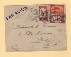 Maroc - Par Avion Destination France - Meknes Ses Rempats Ses Palais Ses Ruines - Daguin - 1926 - Lettres & Documents