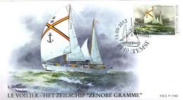 [F8352] 4257 - FDC - Temsifil 2012 - Zenobe Gramme P1743 - 2011-...