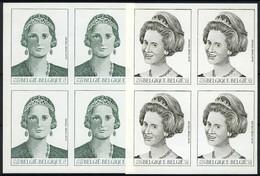 België 2879/80 ON - Koningshuis - Koningin Astrid - Koningin Fabiola - Ongetande