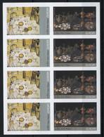 België 3386/87 ON - Europa 2005 - Schilderijen - Gastronomie - Gustave Van De Woestijne - Clara Peeters - In Blok Van 4 - No Dentado
