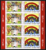 België 3561/62 ON - Europa 2006 - Dieren - Regenboog - Kinderen - Migratie - In Blok Van 4 - Ongetand - Non Dentelé - No Dentado