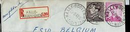 Doc. De HALLE - BOOIENHOVEN  Le 23/09/68 En Rec. ( E ) - Landpost (Ruralpost)