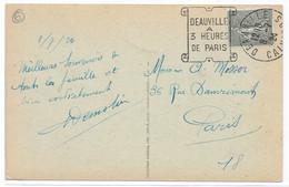 Oblitération Mécanique DAGUIN Illustrée - DEAUVILLE Calvados - 1924 - Sur CPA Château Guillaume Le Conquérant - Lettres & Documents