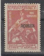 AÇORES CE AFINSA  IMPOSTO POSTAL 8 - NOVO COM CHARNEIRA - Azores