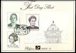 2000-2 - FDS - 2879/80 + BL84 - Het Belgisch Koningshuis - La Dynastie Belge - Andere