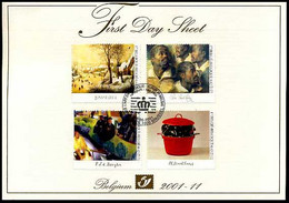 2001-11 - FDS - 3004/07 - Kunst In België - Breugel - Rubens - Uit Boekje B37 - Sonstige