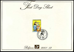 2001-13 - FDS - 3010 - Jeugdfilatelie - Luc Oriënt - Eddy Paape - Strips - BD - Sonstige