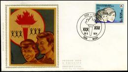 1717 - FDC Zijde - Vrijzinnige Jeugd  #3 - 1971-80