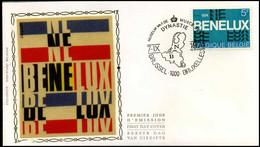 1723 - FDC Zijde - BENELUX  #3 - 1971-80