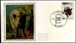 1733 - FDC Zijde - Ardense Jagers  #7 - 1971-80