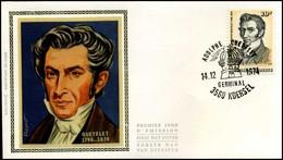 1742 - FDC Zijde - Adolphe Quetelet (1796-1874)  #1 - 1971-80