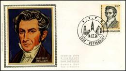 1742 - FDC Zijde - Adolphe Quetelet (1796-1874)  #2 - 1971-80