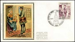 1765 - FDC Zijde - Dag Van De Postzegel  #16 - 1971-80
