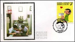 2484 - FDC Zijde - Jeugdfilatelie  #2 - 1991-00