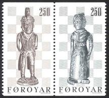 Faroe Islands Sc# 94b MNH 1983 250o Chessmen, By Pol I Buo - Féroé (Iles)