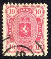 Finland Sc# 32 Used 1885 10p Carmine Coat Of Arms - Usati