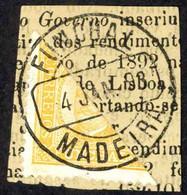 Funchal Sc# 1a (1/2  5r On Newspaper) Used 1892 King Carlos - Funchal