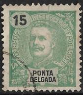 Ponta Delgada – 1898 King Carlos 15 Réis - Ponta Delgada