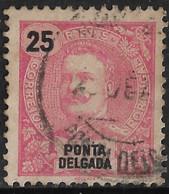 Ponta Delgada – 1898 King Carlos 25 Réis - Ponta Delgada