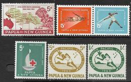 Papua  New Guinea  1962-3  Sc#167, 171-2, 174-7   6 Diff MNH   2016 Scott Value $4.30 - Papua-Neuguinea