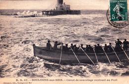 62 - Pas De Calais -  BOULOGNE Sur MER - Canot De Sauvetage Rentrant Au Port - Boulogne Sur Mer