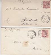 2 Briefe K2 NORDHAUSEN 26.9.74 U. 20.6.71 Nach Rostock - Conf. De Alemania Del Norte