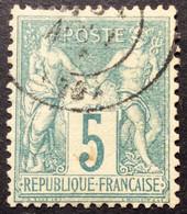 5c 11 N°64 Sage 5c N Sous B - 1876-1878 Sage (Typ I)