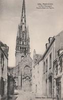 Rare Cpa Pont Croix La Rue Pénanguer Façade Ouest De L'église - Pont-Croix