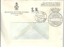 FRANQUICIA AYUNTAMIENTO  ALGINET 1972 - Franquicia Postal