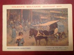Publicité Colman's Moutarde Pekin Beijing Avenue Tien Men, Pli - Advertising