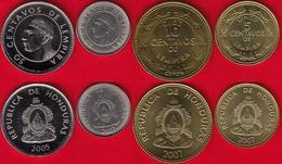 Honduras Set Of 4 Coins: 5 - 50 Centavos 2005-2007 UNC - Honduras