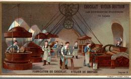 CHROMO CHOCOLAT GUERIN BOUTRON FABRICATION DU CHOCOLAT ATELIER DE BROYAGE - Guerin Boutron