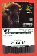 Czechia 2018 Zoo. City Praha. - Biglietti D'ingresso