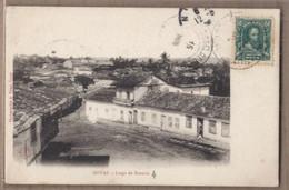 CPA BRESIL - GOYAZ - Largo Do Rosario - TB PLAN CENTRE VILLAGE Petites Rues Détails Maisons + TB Oblitération TAMPONS - Autres