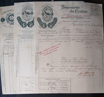 63 MONTFERRAND CHAMALIERES  BIERES BRASSERIES 3  FACTURES  ILLUSTREES ANCIENNES 1893 1915 - Other Municipalities