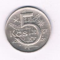 5 KORUN 1966  TSJECHOSLOWAKIJE /9438/ - Czechoslovakia