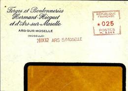 Lettre  EMA Havas 1962 Forges Boulonneries Industrie Usines 57 Ars Sur Moselle  A82/13 - Non Classés
