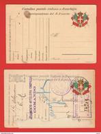 REGNO:  1916/18  I.P.  FRANCHIGIA  -  STEMMA  E  BANDIERE  US. -  FILAGRANO  F 7 + F 9 - Entiers Postaux