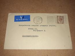 Old Cover From UK, United Kingdom To Czechoslovakia, 1948 Stamp South Kensington, By Air Mail, Par Avion, George VI. - Briefe U. Dokumente