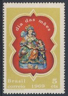 "Brazil Brasil 1969 Mi 1211 YT 893 SG 1254 * MH - ""Our Lady Of Santana"", Statue - Mothers Day / Muttertag - Fête Des Mères"