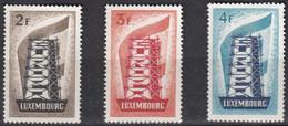 Cept 1956 Luxembourg  Yvertn° 514-516 *** MNH Cote 550 € Europa - Nuevos