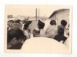 PHOTO FORMAT 7 X 10   ORAN  EN ALGERIE INAUGURATION MAISON DES ETUDIANTES A ORAN MAI 1960  VOIR VERSO - War, Military