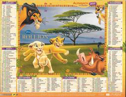CALENDRIER 2017 LE ROI LION Et LE LIVRE DE LA JUNGLE DISNEY - Tamaño Grande : 2001-...