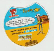 R : étiquette De  Fromage :  Fromage, La Vache Qui Rit  Support  Carton : Lucky  Luke ,la  Ruée  Vers L ' Or - Cheese