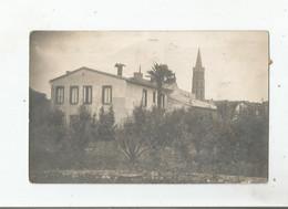 CARTE POSTALE ANCIENNE PHOTO NON SITUEE AVEC EGLISE (CACHET DEPART HAUTE GARONNE)  1913 - Zonder Classificatie
