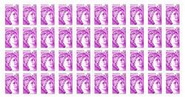 France Sabine YT N° 1969b Variété Sans Phosphore En Bloc De 40 Timbres Neufs ** MNH. Tous Signés. TB. A Saisir! - Varieties: 1970-79 Mint/hinged
