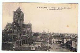 SAINT PIERRE SUR DIVES * L'EGLISE ET PLACE DE LA MAIRIE * - Other Municipalities