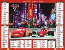 CALENDRIER 2012 CARS DISNEY PIXAR - Tamaño Grande : 2001-...