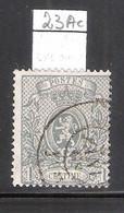 N°23Ac - Dent.15 -  Gris-verdâtre (à Voir) - 1866-1867 Blasón