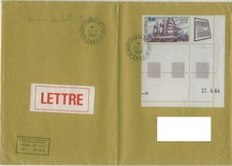 TAAF FSAT Terre Adelie. Dumont D'urville 22.02.1995 Grande Enveloppe Pliee YT PA 85 Coin Date & 22.02.95 Blason Chenille - Covers & Documents